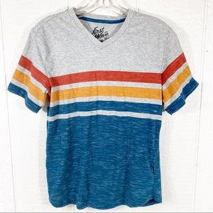 Boys First Wave Striped Short Sleeve Tee Shirt 18